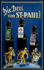 Bier St. Pauli Blechschild Schild 3D geprägt gewölbt Tin Sign 20 x 30 cm