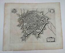 plan de la ville de saint omer par blaeu 1680  -  sandérus illustrata