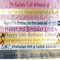 50th 60th 70th 80th birthday banner PERSONALISED RIBBON 10cm height x 1 metre
