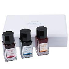 Pilot Iroshizuku Fountain Pen Ink 3 Mini Bottle Summer Set 15 mL Each, Momiji,