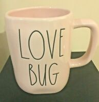 Rae Dunn LOVE BUG PINK MUG Large Letter Farmhouse Valentine By Magenta