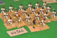 25mm colonial / mexican - regular regt 20 figures - inf (44366)