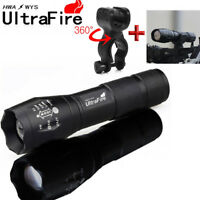 Ultrafire 50000LM LED Tactical Flashlight Torch Lamp Zoomable Torch Fit 18650
