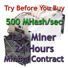 Ant Miner L3+ Rental. 500Mh Guaranteed 24 Hours Mining Contract Lease Scrypt LTC
