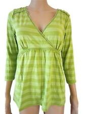 Unbranded V Neck 3/4 Sleeve Stretch Tops & Shirts for Women