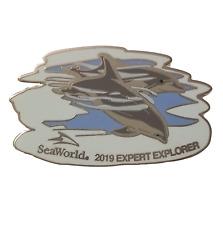 Seaworld Expert Explorer Pin 2019 Dolphins Rare Sea World Program Pin Htf