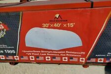 30x40x15 Gm Canvas Tension Pe Fabric Storage Building Shop Shelter Metal Frame