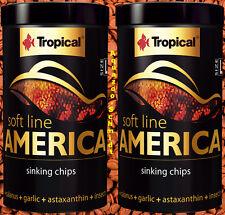 (EUR 52,00 / L) Tropical soft line AMERICA L 2x 250ml Fischgröße ab 10cm