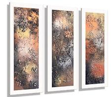 MK1 Art Bild Leinwand Abstraktes Gemälde Kunst Bilder Malerei braun modern XXL