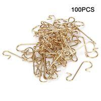 100pcs forme crochet en métal crochet de crochet de noël décoration de