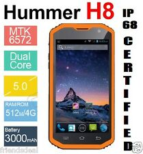 5.0'' 3G HUMMER H8 Dual Smartphone Waterproog Rugged Tough IP68 8MP 1.3GHz USED