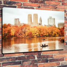 """Parque Central de Nueva York en otoño caja impresa cuadro lienzo A1.30""""x20"""" - 30 mm de profundidad"""