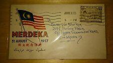 Malaysia Flag Design 1957 Merdeka Malaya Tunku Abdul Rahman stamp FDC