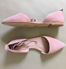 New Madewell Arielle D'Orsay Flats Shoes Size 9.5 Dusty Clay Pink G1969
