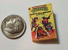 Miniature dollhouse book 1/12  Comic Book Tv show Ninja Turtles  Action Figure
