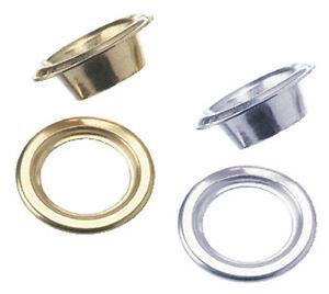 Eyelet for Leather Craft Grommet Banner 10/12/14mm,Brass/Silver/Black /Antique
