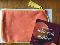 Ipsy August 2018 Selfie with No  Makeup Pouch Travel Cosmetic Bag ONLY