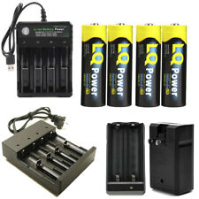 USA 18650 3.7v Li-ion Rechargeable Flashlight 18650 Batteries USA Smart Charger