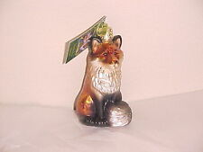 Old World Christmas red fox  glass ornament