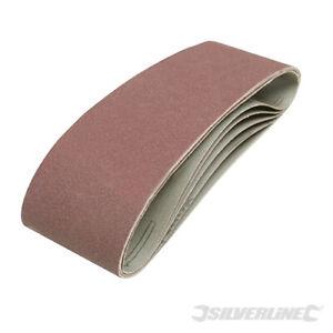 Aluminium Oxide Sanding Belts 60 x 400mm 40,60,80 &120 Grit Grades UK Seller