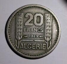 French Algeria Algérie française 20 Francs 1949  KM#91 Turin  Nickel F2D