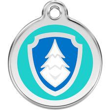 Red Dingo Paw Patrol Everest Stainless Steel Engraved Pet Tag/Kids Keyring