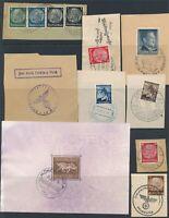 Lot Stamp Germany Poland WWII Brown Ribbon Sheet Feldpost Hitler Osten U
