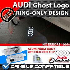 * Proyector LED Bienvenida con el logotipo de AUDI Ghost Sombra Puerta Luz A3 A4 Anillo sólo Diseño