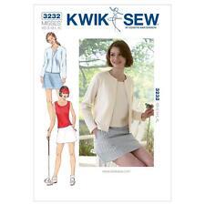 KWIK SEW SEWING PATTERN MISSES' SKORT TOP & CARDIGAN SIZE XS - XL K3232