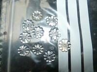 Lot de 10 Pampilles MARGUERITE de lustre ancien en cristal 20 mm