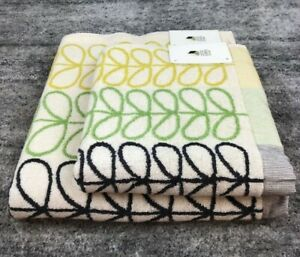 Orla Kiely Linear Stem Multi Strip Bath Towel 100% Cotton 100% Genuine NEW