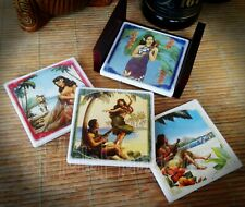 Tropical Drink Coasters Set