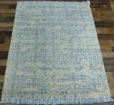 4'x6' New fine Silken pile Hand loomed Modern Broken Design area rug Carpet