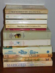 Lot of 12 Grace Livingston Hill books PB/HB Collection 1&2, Duskin, Marigold,...