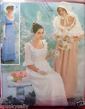Simplicity 9225 REGENCY JANE AUSTEN DRESS Adult sz 14-20 Costume Sewing Pattern