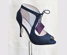 Lotus Vanille Diamanté Navy Blue Size 5 Occasion Shoes New