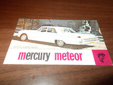 1962 Mercury Meteor 4-Door Sedan Original Advertising Postcard