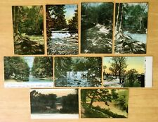 Lot of 9 Antique Postcards ALL BRONX RIVER, NY 1906-c1920 New York