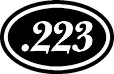 .223 AR-15 Ammo Decal - vinyl sticker/decal USA 3.5x7.5 reloading ammo can decal