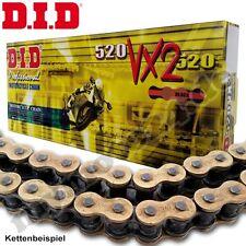 DID DID520VX2 Motorrad Kette Antrieb X-Ring 118 Rollen Clipschloss gold/schwarz