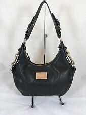 Michael Kors Medium Black Leather Shoulder Bag with Studs Along Side and Bottom