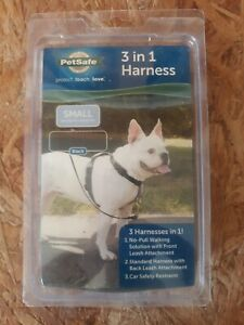 PetSafe 3-in-1Black Harness for Dogs Walking Dogpark Hiking Small NEW
