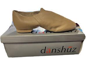NIB Danshuz Woman's Bella Tan Soft Leather Value Jazz ShoesSize 7