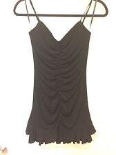 EEUC BCBG Max Azria Black Jersey Cocktail Dress SZ 2 Perfect For Latin Dance