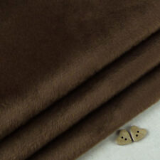 Chocolate Brown smooth cuddle soft fur fabric / quilting fleece teddy bear toy
