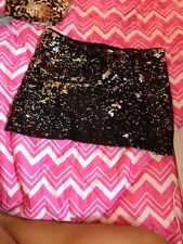 Black And Silver Sequenced Pencil Skirt Size M