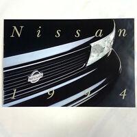 1994 Nissan Full Lineup Sales Brochure Maxima Altima Sentra 300ZX 240SX USA NEW