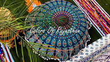 "32 "" Indian Mandala Floor Pillow Cotton Ottoman Cover Round Pouf Tapestry"