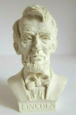White Bonded Marble Figurine Presidential Bust Abraham Lincoln 1997 USA Made