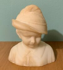 Old Antique Alabaster Art Carved Boy Bust